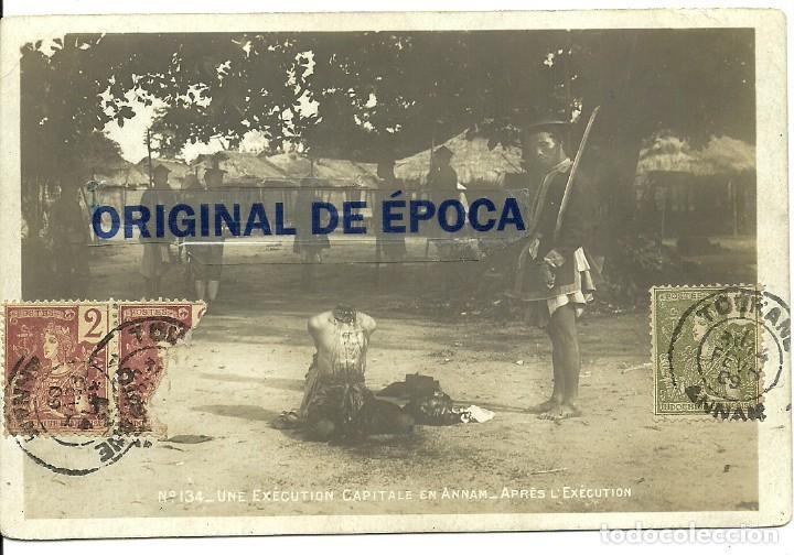Postales: (PS-60092)LOTE DE 5 POSTALES DE INDOCHINA-EJECUCION CAPITAL.DECAPITACION - Foto 6 - 159675962