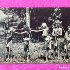 Postales: VEDDAHS ABORIGENES CEYLON CEYLAN INDIGENAS SRI LANKA CAZA ARCOS SELVA TRIBU SALVAJE 1900 POSTAL. Lote 168376700