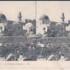 Postales: POSTAL STEREOSCOPICA JERUSALEM - LE TOMBEAU DE DAVID - LL 16 - LA TUMBA DE DAVID. Lote 172155808