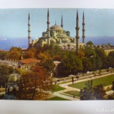 Postales: POSTAL. 801. THE BLUE MOSQUE AND GERMAN FOUNTAIN. ESTAMBUL. TURQUÍA. CIRCULADA EN 1977.. Lote 173560413