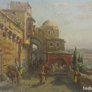 Jerusalem 11911 Blick von Jerusalem in die Wüste Juda
