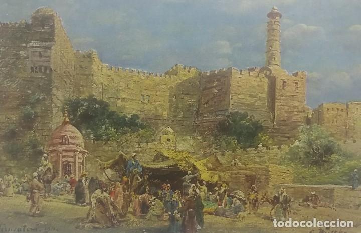 Jerusalem 11907 Volksieben vor dem Jaffator