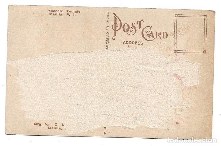 Postales: FILIPINAS .- MANILA .- MASONIC TEMPLE - Foto 2 - 176258609