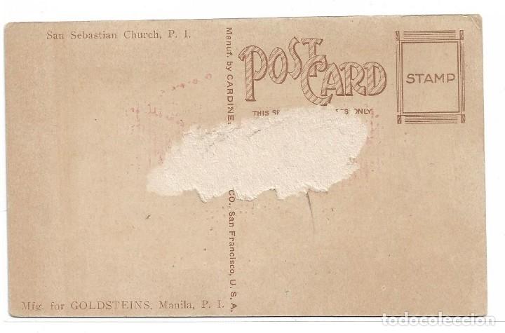 Postales: FILIPINAS .- MANILA .- SAN SEBASTIAN CHURCH - Foto 2 - 176261713