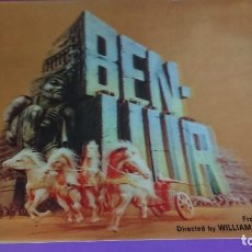 Postales: ANTIGUA POSTAL EN 3 D BEN-NUR(MGM 1959)NOW IN 70MM AND FULL STEREOPHONIC SOUND TECHNICOLOR. JAPÓN. Lote 178377163