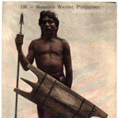 Postales: PS8263 FILIPINAS \'GUERRERO DE MONTAÑA\'. PHILIPPINE AND ORIENTAL CURIO COMPANY. PRINC. S. XX. Lote 179422467