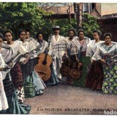 Postales: PS8264 MANILA \'FILIPINO ORCHESTRA\'. CIRCULADA VÍA SIBERIA. 1913. Lote 179514221