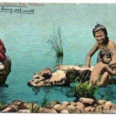 Postales: PS8273 FILIPINAS. THE MORNING BATH. SIN CIRCULAR. PRINC. S. XX. Lote 179955972