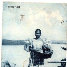 Postales: PS8277 FILIPINAS. FILIPINO GIRL. BINGHAM AND CO. CIRCULADA. 1911. Lote 179957865