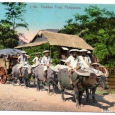 Postales: PS8283 FILIPINAS. CARABAO TRAIN. CIRCULADA. 1911. Lote 179960785