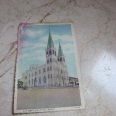 Postales: POSTAL AÑOS 50/60 SAN SEBASTIAN CHURCH MANILA FILIPINAS. Lote 181231883