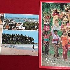 Postales: BALI Y SIRI LANKA. USADAS. Lote 182306112