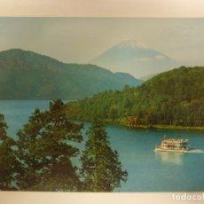 Postales: POSTAL. LAGO ASHI Y MONTE FUJI EN EL PARQUE NACIONAL DE HAKONE, JAPÓN. NO ESCRITA.. Lote 182562378