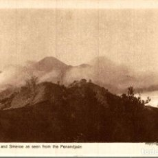 Postales: INDONESIE INDONESIA. VULCANO BROMO AN SMEROE AS SEEN FROM THE PENANDJAAN. Lote 184320313