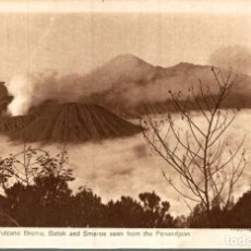 Postales: INDONESIE INDONESIA. THE SANDSEA. VULCANO BROMO. BATOK AND SMEROE SEEN FROM THE PENANDJAAN. Lote 184320336