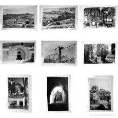 Postales: LOTE 9 POSTALES JERUSALEN-TUMBA VIRGEN-JARDÍN GETSEMANÍ-SEPULCRO-MONTE OLIVOS-FOT LEÓN REX-AÑOS 1940. Lote 189826600
