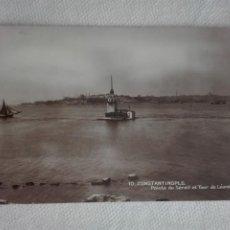 Postales: 920 POSTAL NUEVA - TURQUIA - 10 CONSTANTINOPLE / POINTE DU SERAIL ET TOUR DE LEANDRE. Lote 191002430