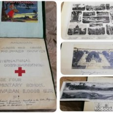 Postales: AMERICAN JUNIOR RED CROSS PHILIPPINES, ALBUM DE FILILINAS AÑO 1931, CRUZ ROJA, CONTIENE MAPA DESPLEG. Lote 191863823