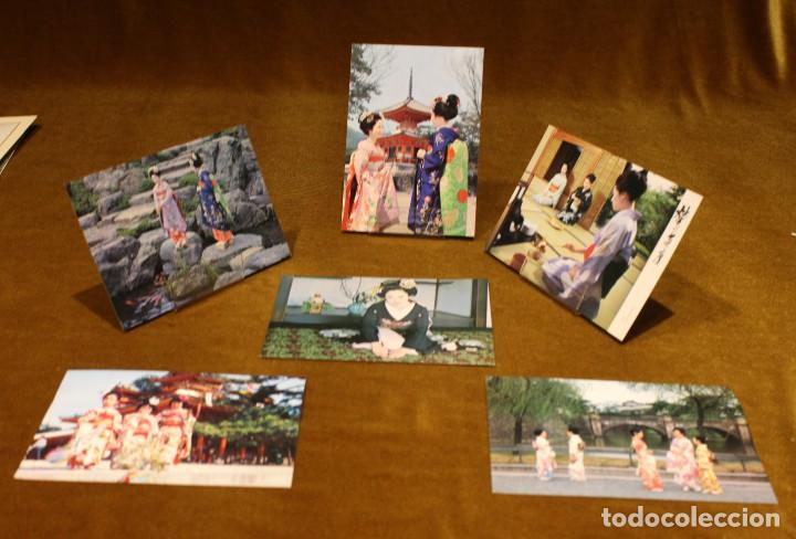 SEIS TARJETAS POSTALES SIN CIRCULAR,JAPÓN,MOTIVO GEISHAS. (Postales - Postales Extranjero - Asia)