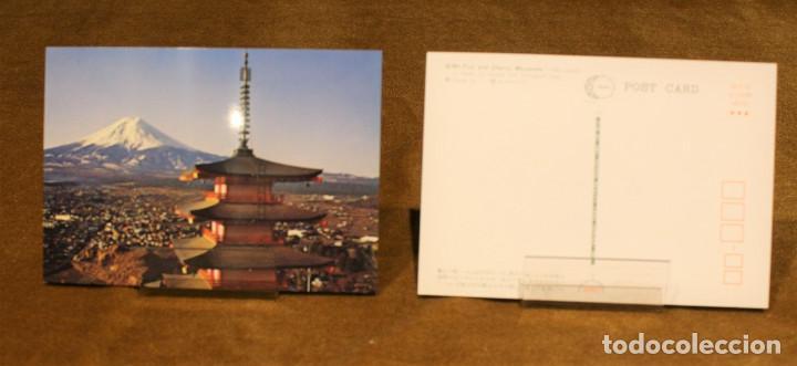 Postales: Cuatro tarjetas postales sin circular,Japón,motivo monte Fuji. - Foto 2 - 192008336