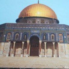 Postales: DEPLEGABLE, ACORDEÓN O TIRA DE 10 POSTALES ISRAEL JERUSALEN DOME ON THE ROCK CUPULA DORADA. 80´S.. Lote 192240937