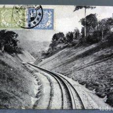Postales: POSTAL SAMARANG ISLA JAVA ÉPOCA INDIAS HOLANDESAS VÍA FERROCARRIL CIRCULADA SELLO 1911. Lote 195203252