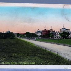 Postales: POSTAL CALCUTA CALCUTTA MILITARY OFFICE ESPLANADE ROAD INDIA D MACROPOLO & CO CIRCULADA 1911. Lote 195303825