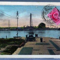 Postales: POSTAL CALCUTA CALCUTTA KIDDERPORE DOCK INDIA D MACROPOLO & CO CIRCULADA 1911. Lote 195303933