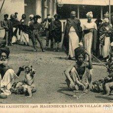Cartes Postales: INDIA INDE. FRANCO BRITISH EXHIBITION 1908 HAGENBECKS CEYLON VILLAGE AND INDIAN ARENA. Lote 195798228