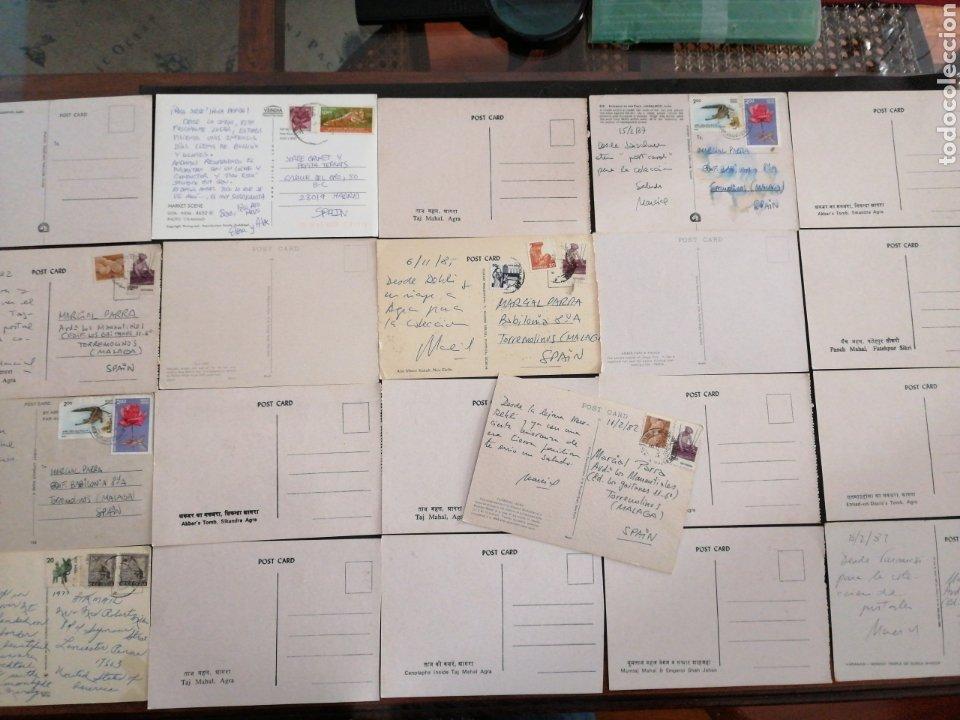 Postales: INDIA LOTE DE 21 POSTALES MAYORÍA S/C - Foto 2 - 198619310