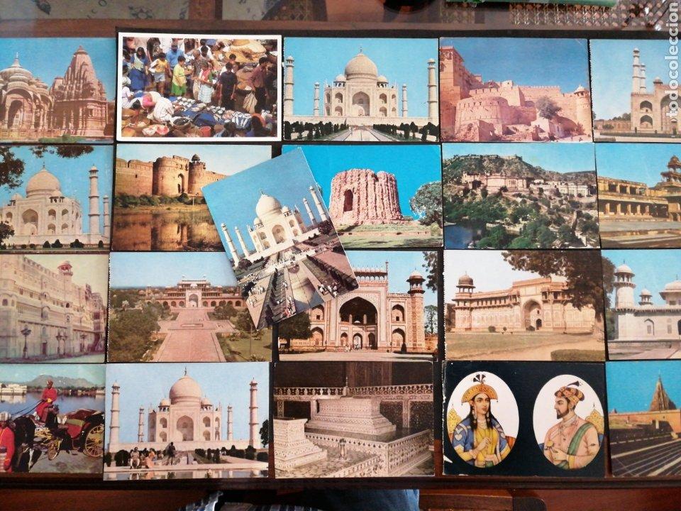 INDIA LOTE DE 21 POSTALES MAYORÍA S/C (Postales - Postales Extranjero - Asia)