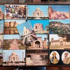 Postales: INDIA LOTE DE 21 POSTALES MAYORÍA S/C. Lote 198619310