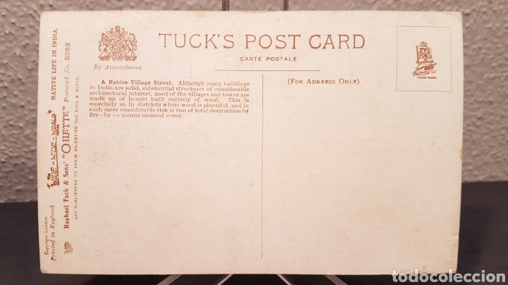 Postales: Postal Nativos de la India, Edit. por Raphael Tuck & Sons, Londres. Oilette. Sin circular. - Foto 5 - 200136050