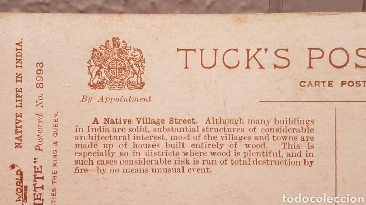 Postales: Postal Nativos de la India, Edit. por Raphael Tuck & Sons, Londres. Oilette. Sin circular. - Foto 6 - 200136050