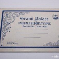 Postales: 12 POSTALES DE GRAND PALACE,EMERALD BUDDHA TEMPLE,BANGKOK,THAILAND. Lote 205011401