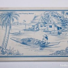 Postales: 12 POSTALES DE TAILANDIA THAI FLOATING MARKET. Lote 205011821