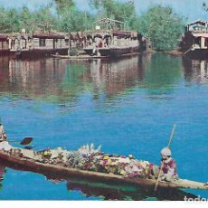 Postales: POSTAL INDIA CON MATASELLOS FLOWER SELLING IN DAL LAKE MEERAT CITY. Lote 207016210