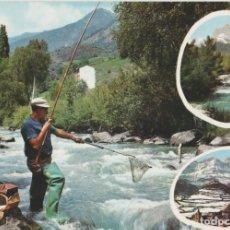 Postales: LOTE B POSTAL TEMA PESCA PIRINEO ARAGON HUESCA AÑOS 60. Lote 214089662