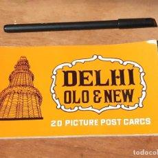 Postales: TACO DE 20 POSTALES DE DELHI OLD & NEW. INDIA. AÑOS 60.. Lote 214812387
