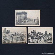Postales: 3 POSTALES JAPONESAS TERREMOTO KANTO 1923 JAPÓN, TOKIO, YOKOHAMA,, (P282). Lote 218833890