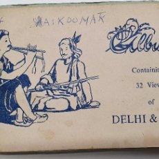 Postales: ALBUM DE FOTOGRAFIAS DE DELHI Y AGRA AÑOS 50 INDIA. Lote 219096051