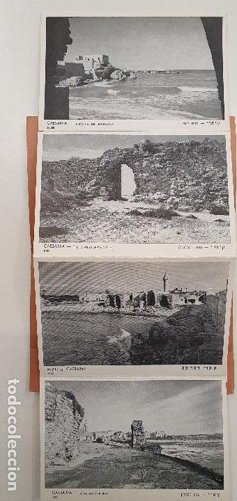 Postales: Tira de 10 postales Cesárea Israel. Años 60. Magnifica calidad. - Foto 3 - 219105312