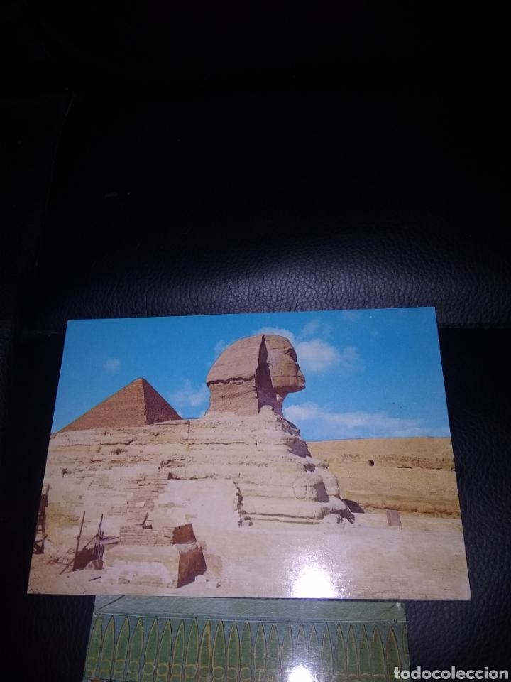 Postales: Caligrafía Arábiga en el reverso.Año 1985 ..Osiris Anubis, - Foto 2 - 219903098