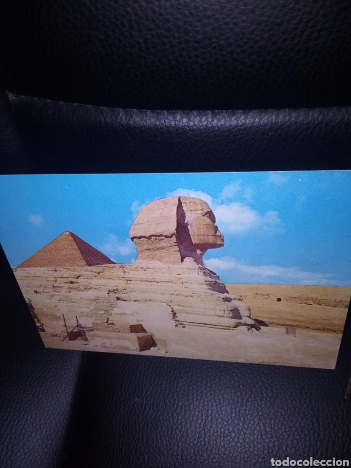 Postales: Caligrafía Arábiga en el reverso.Año 1985 ..Osiris Anubis, - Foto 3 - 219903098