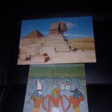 Postales: ESFINGE Y PIRÁMIDE ,OSIRIS ANUBIS,ACOMPAÑANDO AL FARAON. Lote 219903098