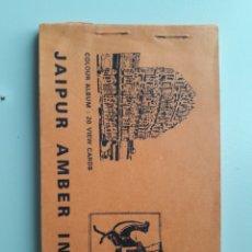Postales: LIBRO DE POSTALES JAIPUR INDIA 20 POSTALES A TODO COLOR LIBRO BONITA PIEZA. Lote 221479482