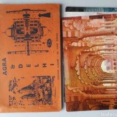 Postales: LIBRO DE 20 POSTALES INDIA AGRA Y 5 MÁS DE REGALO TAN MAHAL DELHI Y MÁS. Lote 221484800