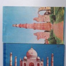 Postales: LIBROS DE POSTALES LA INDIA DIFERENTES MONUMENTOS Y CIUDADES. Lote 221489801