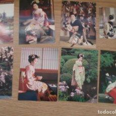 Postales: 8 POSTALES JAPONESAS. KYOTO. JAPON. MAIKO. GEISHA. TRAJES TRADICIONALES. POST CARD JAPONESE. Lote 224916988