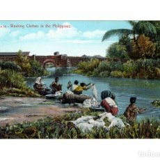 Postales: FILIPINAS.- WASHING IN THE PHILIPPINES. Lote 103866567